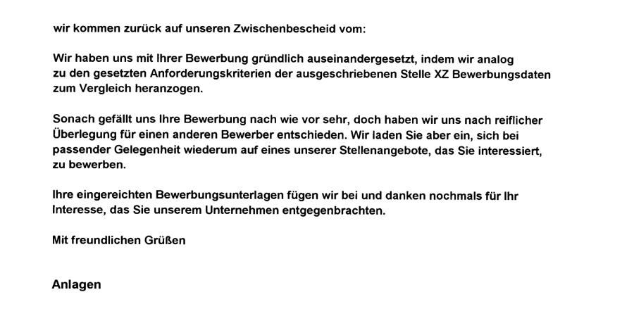 muster zwischenbescheid bewerbung POOL elect II (S.18)
